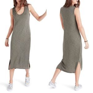 Madewell Heather Green V-Neck Tank Dress XL